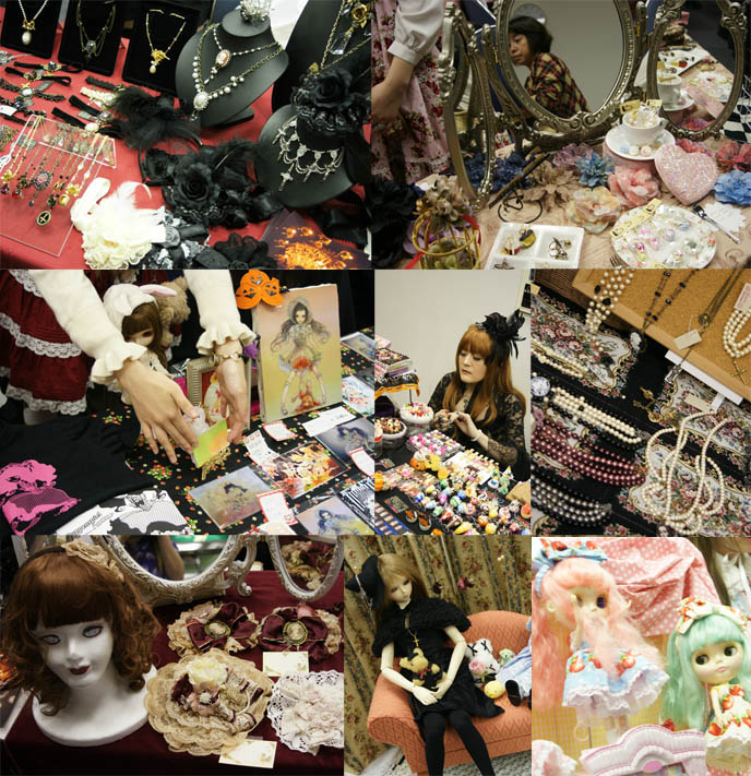 Alamode Market, Gothic Lolita shopping and small designer boutiques, presented by D's Valentine in Tokyo Japan. Sweet candy accessories, cute jewelry
