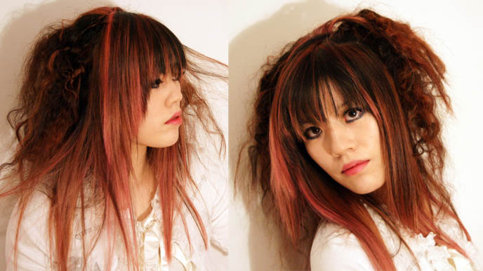 J Hairstyle: NEW PINK HAIRSTYLE! VISUAL KEI J-ROCK HAIR, GOTHIC LOLITA